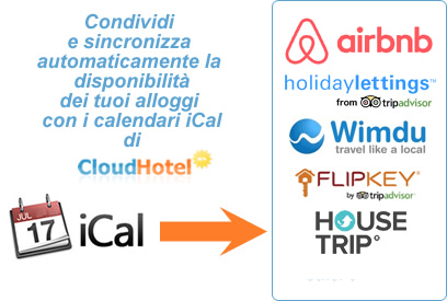 Come sincronizzare il Calendario iCal di Cloud-hotel su AirBnB